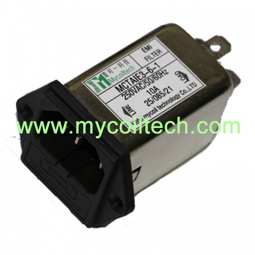 1a-10a iec power emi фильтры